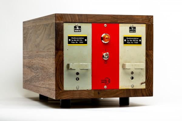 SonicWorld Custom Holzrack für 2 x ALBIS 502/59b Röhrenverstärkermodule