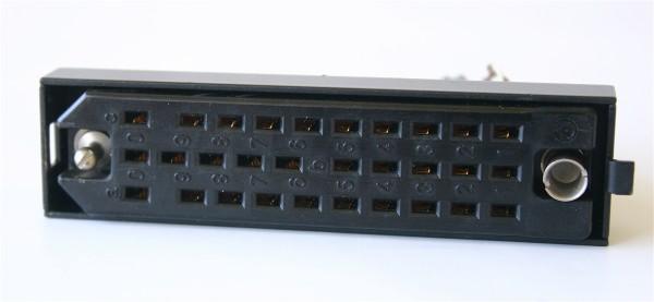 Siemens/ Tyco oder Amphenol Tuchel DIN 41622 30 polige versilberte Federleiste mit Wanne