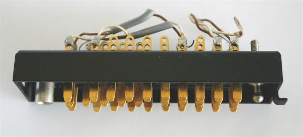 Siemens/ Tyco oder Amphenol Tuchel DIN 41622 30pol Messerleiste, vergoldet mit Wanne Metall GEBRAUCH