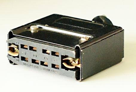 Amphenol Tuchel 8 Pol Federleiste DIN 41622 mit Gehäuse komplett aus Metall gebraucht