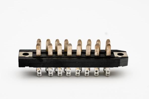 Siemens / Tyco oder Amphenol Tuchel DIN 41622 16pol Messerleiste NEU