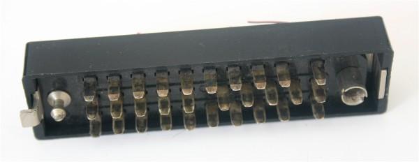 Siemens/ Tyco oder Amphenol Tuchel DIN 41622 30pol Messerleiste mit Wanne Metall GEBRAUCHT