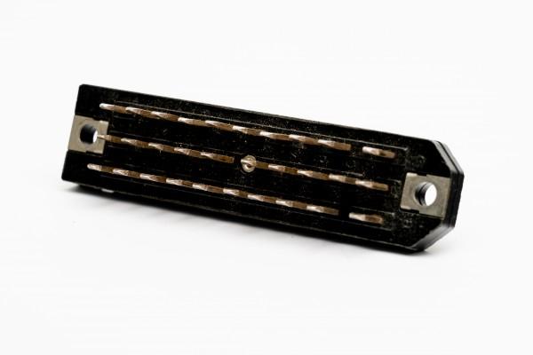 Siemens/ Tyco oder Amphenol Tuchel DIN 41622 30 polige versilberte Messerleiste GEBRAUCHT
