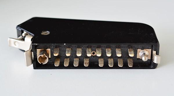 Siemens DIN 41622 16pol Messerleiste mit Metallhaube und Kodierstifte NEU