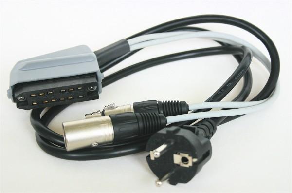 SonicWorld Anschlussadapterkabel für V77 mit 12pol Buchsenleiste und XLR IN/OUT