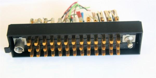Siemens/ Tyco oder Amphenol Tuchel DIN 41622 39 polige vergoldete Messerleiste, mit Riegelwanne Metall GEBRAUCHT