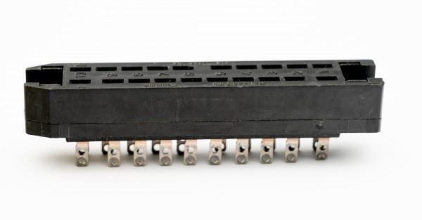 Siemens/ Tyco oder Amphenol Tuchel DIN 41622, 20 polige vergoldete Federleiste